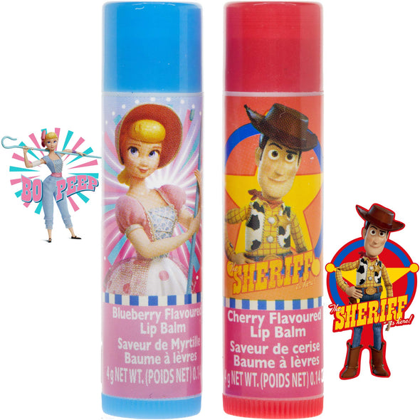 Disney Toy Story 4 Super Sparkly Lip Balm Set for Girls, Set Includes: 2 Lip Balms, Nail Stickers and Handheld Mirror