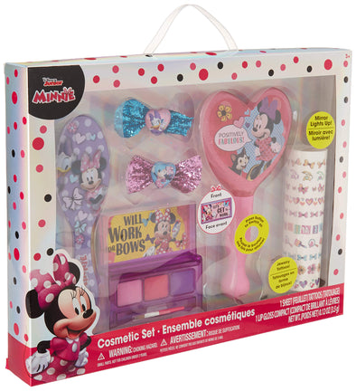 TownleyGirl Minnie Mouse Hair and Makeup Set, with Bonus Light Up Mirror