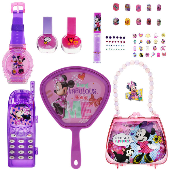 Disney MB0555SA Minnie Fun Cosmetic Set with Play Phone & Purse, Multicolor