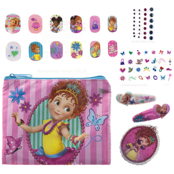 Fancy Nancy Beauty Kit, Kids Washable, Lip balms, glosses, press on nails, gems, stickers, barrettes & more