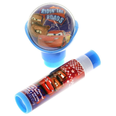 Cars Lip Balm with Bouncy Ball