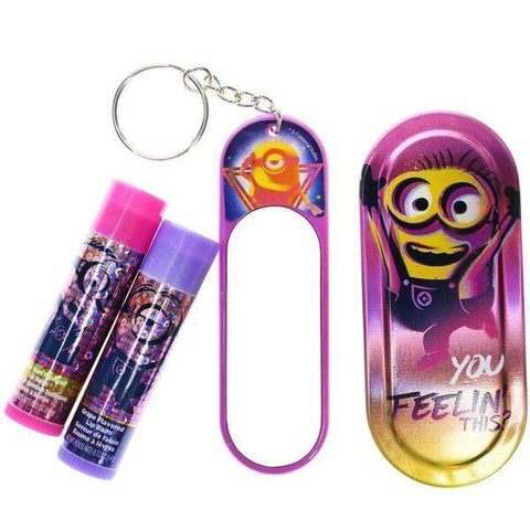 Despicable Me 3- 2 Pack Lip Balm with Mirror