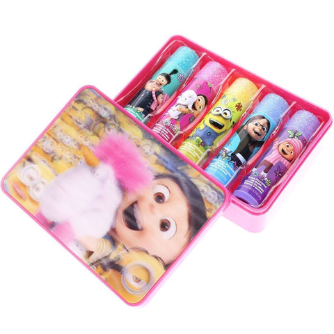 Despicable Me 3- 5 Pack Lip Balm with Holographic Carrying Case