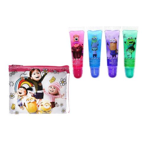 Despicable Me 3 Lip Gloss with Collectible Bag Set