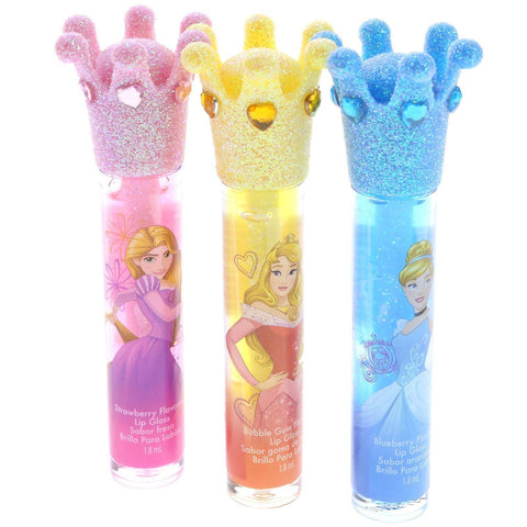 Disney Princess 3 Pack Crown Lip Wands