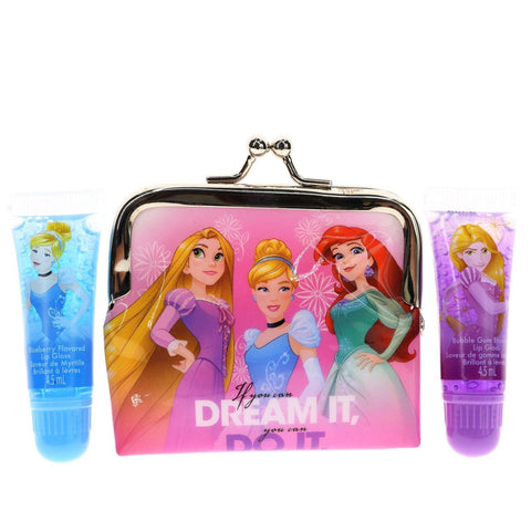 Disney Princess 2 Pack Lip Tube with Purse