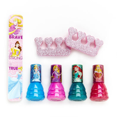 Disney Princess 4 Pack Nail Polish with Nail File - Townleygirl