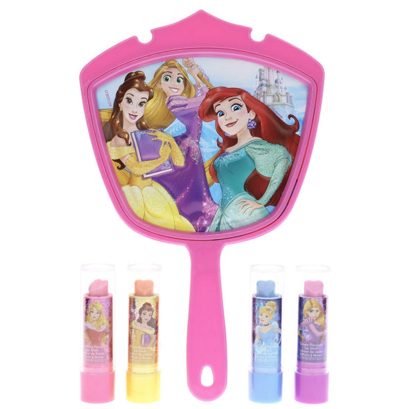 Disney Princess 4 Pack Lip Stick with 3D Mirror - Townleygirl