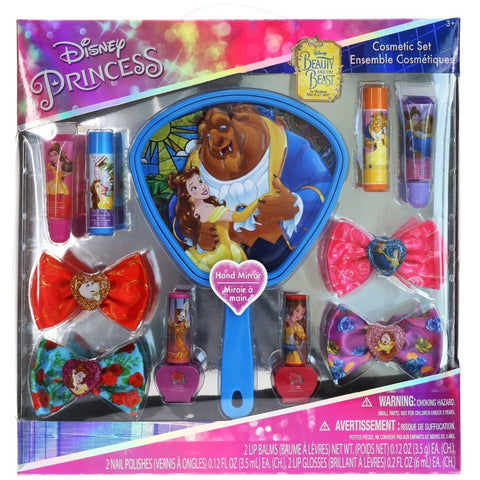 Beauty and the Beast Cosmetic Set with Mirror (Includes Water Based Nail Polish)