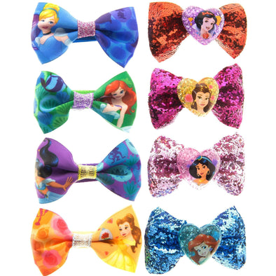Disney Princess Hair Bows- 10 Pack - Townleygirl