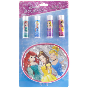 Disney Princess 4 Pack Lip Balm with Bag