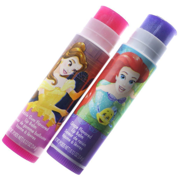 Disney Princess Lip Balms with 3D Mirror and Stickers