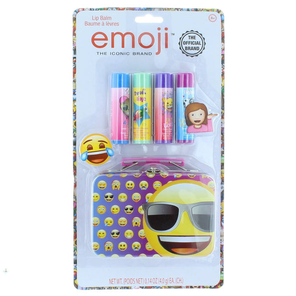 Emoji 4 Pack Lip Balm with Tin - Townleygirl