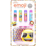 Emoji 4 Pack Lip Balm with Carrying Case