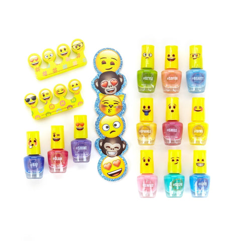 Emoji 12 Pack Nail Polish with File Set - Townleygirl