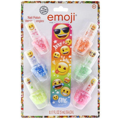emoji confetti nail polish with nail file
