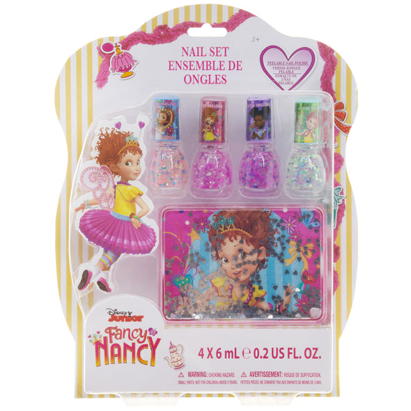 Fancy Nancy confetti nail polish