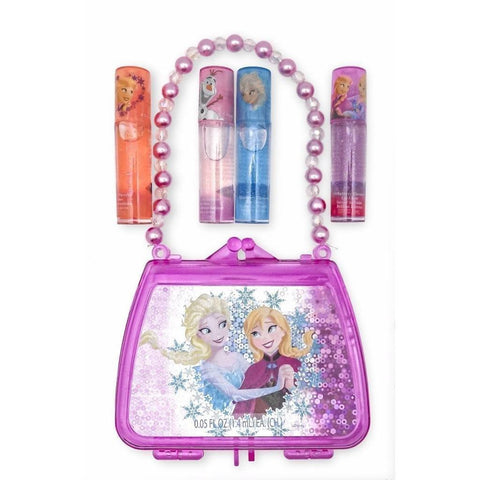 Frozen 4 Pack Lip Gloss with Purse
