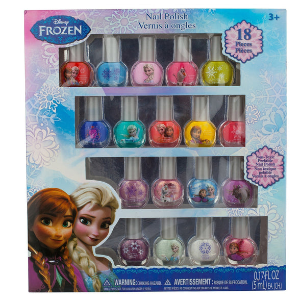 Frozen Bright and Beautiful 18 Piece Non-Toxic Peelable Nail Polish Set - Townleygirl