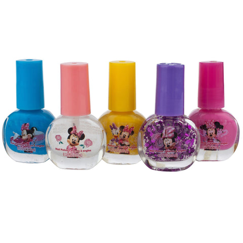 Minnie Mouse 5 Pack Nail Polish With 3 Light Up Rings