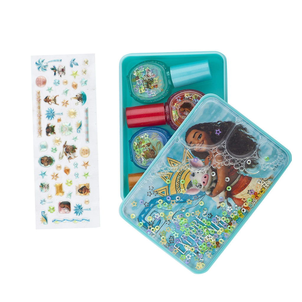 Moana 4 Pack Nail Polish with Stickers and Tin