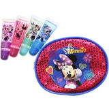 Minnie Mouse 4 Pack Lip Gloss Set with Pouch