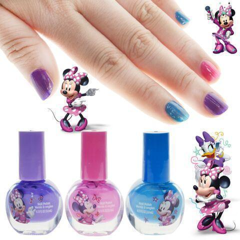Minnie Mouse Nail Polish and Stickers Set - Townleygirl