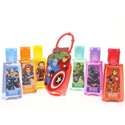 Marvel 6 Pack Hand Sanitizer with Holder Set