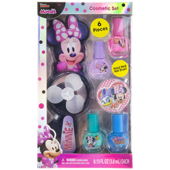 Minnie Mouse nail polish and drying fan