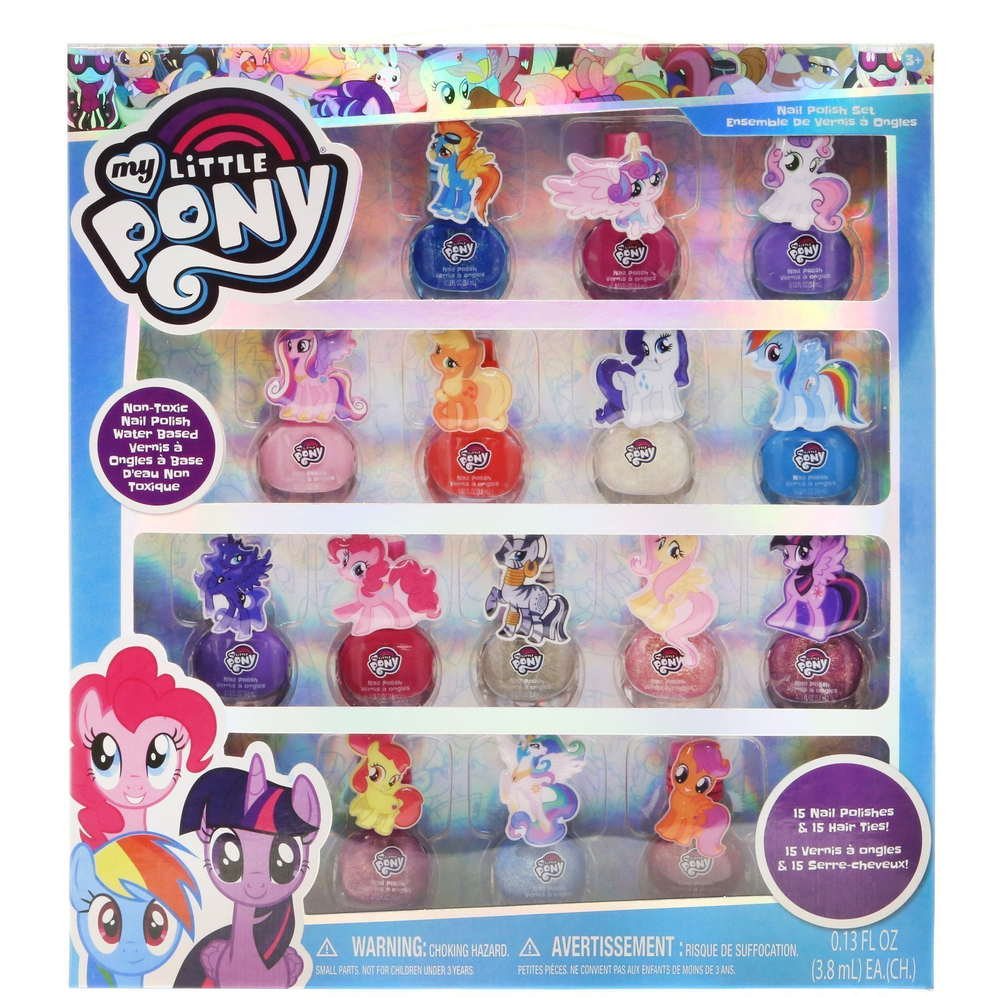 My Little Pony 18 Pack Nail Polish Set with Hair Ties – TownleyGirl e09ce0b8013