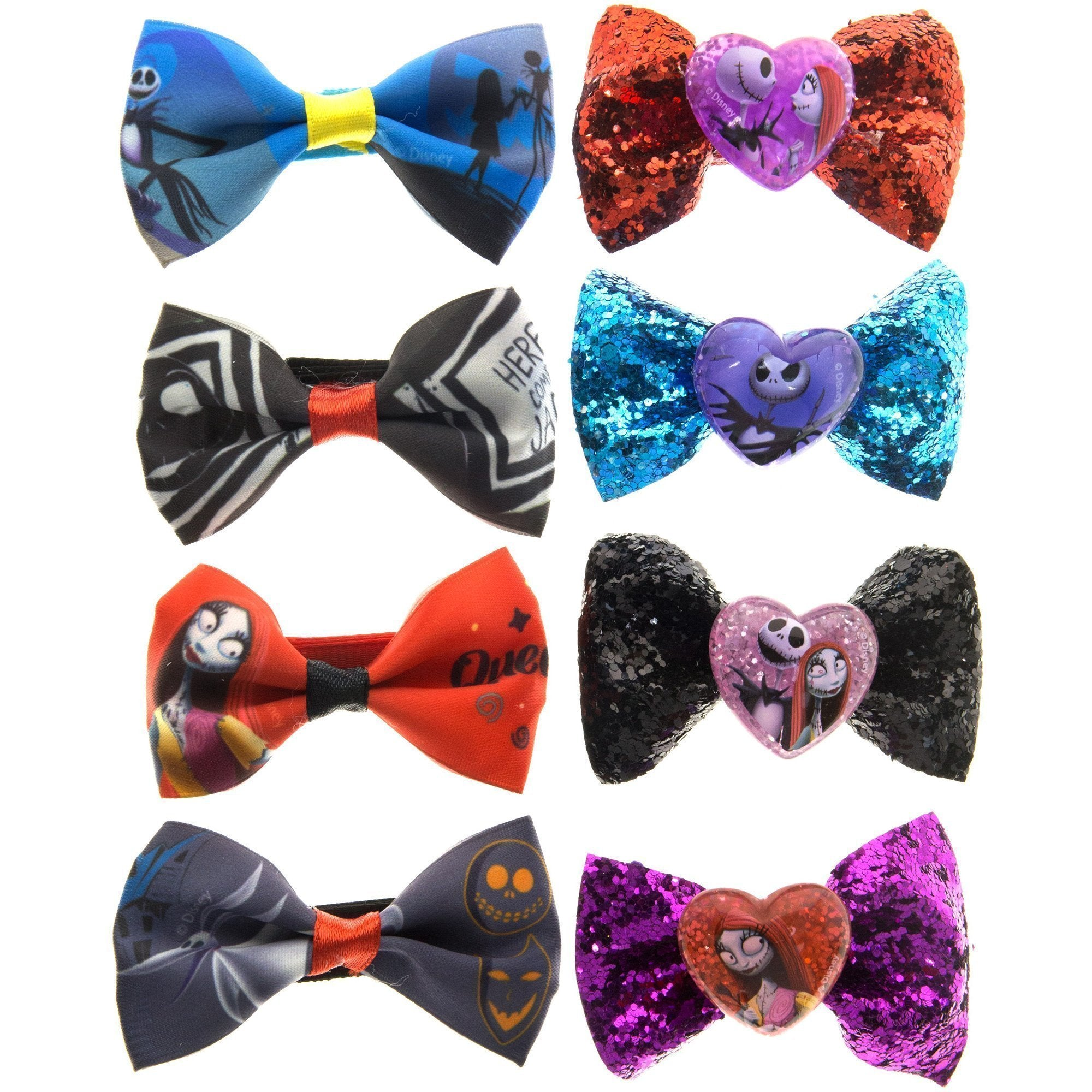 nightmare before christmas hair bow set townleygirl