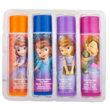 Sofia The First 4 Pack Lip Balm With Carrying Case