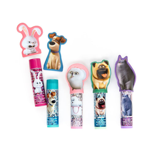 Pets 5 Pack Lip Balm with Finger Puppets