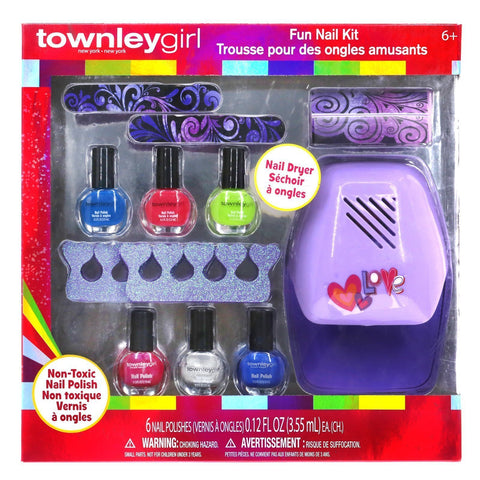TownleyGirl Fun Nail Kit with Nail Dryer