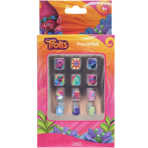 Trolls 12 Piece Press-On Nail Set