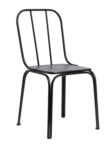 4x Downtown Chair Black