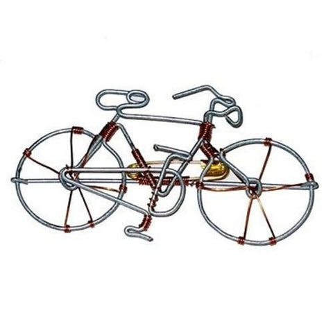 Charming Upcycled Wire Bicycle Pin Handmade Fair Trade