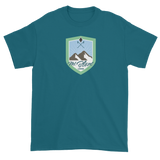 Timeshare Munzee Mt. Blanc Lodge Badge Short Sleeve Unisex T-shirt