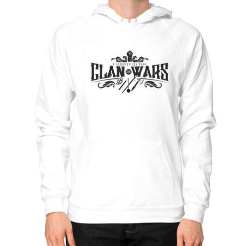 "Munzee ""I Survived the Clan Wars"" Hoodie White - munzeestore"