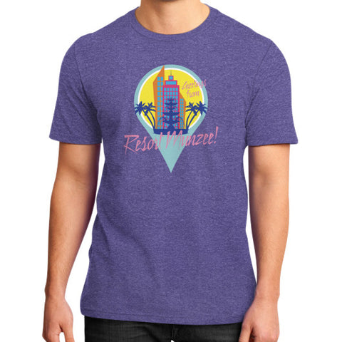 Resort Munzee District T-Shirt (Unisex) Heather purple munzeestore