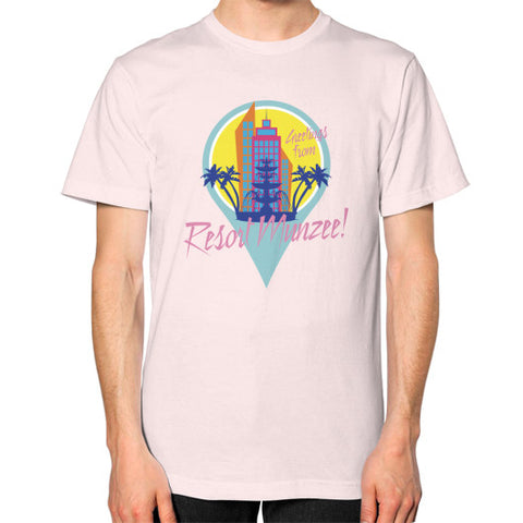 Resort Munzee T-Shirt (Unisex) Light pink munzeestore