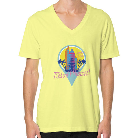 Resort Munzee V-Neck (Unisex) Lemon munzeestore