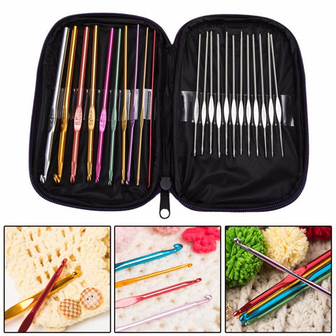 Crochet Hooks Multi Color 22 Pc - Trendy Surplus