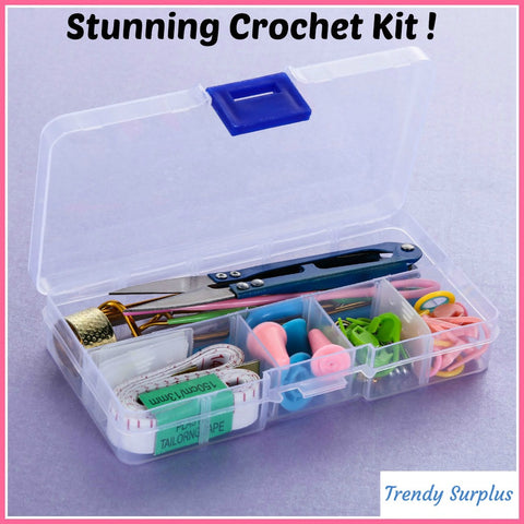 Cool Crochet Kit Amazing Tools And Supplies - Trendy Surplus