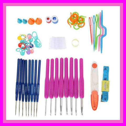 Beautiful Purple Crochet Hooks Kit Set - Trendy Surplus