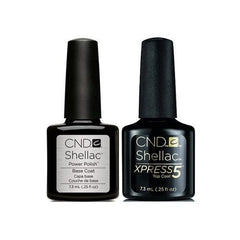 CND Creative Nail Design Shellac - Base & Xpress 5 Top 0.25 oz