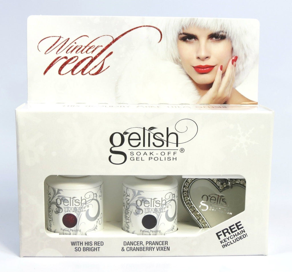 Harmony Gelish Winter Reds + Free Key Chain - My Beauty Supply Center Inc.