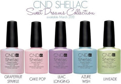 CND Creative Nail Design Shellac - Sweet Dreams Collection Set Of 5