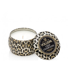 Voluspa Tuberosa Crisp Mini Champagne Decorative Tin Candle