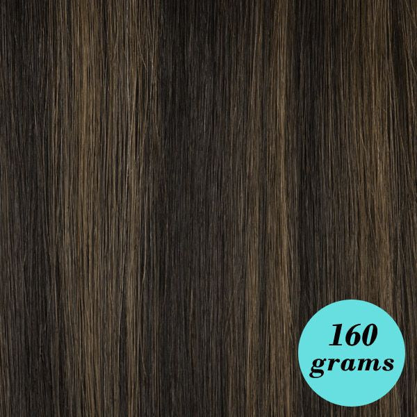 "Leyla Milani - #1B/6 Mixed Brown 20"" Clip In Hair Extensions [Highlight Edition] - My Beauty Supply Center Inc."